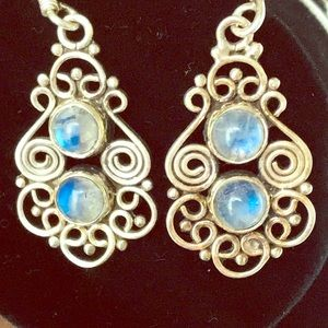 Moonstone &!Sterling Silver .925 Stamped